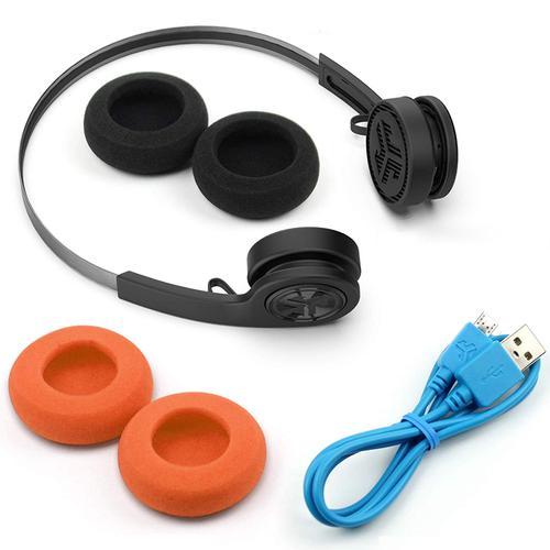 JLab Rewind Wireless BT Headphones - Black