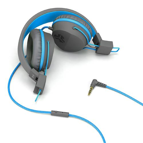 a6a2a869f27 JLab JBuddies Studio Over-Ear Folding Kids Headphones - Blue/Grey ...