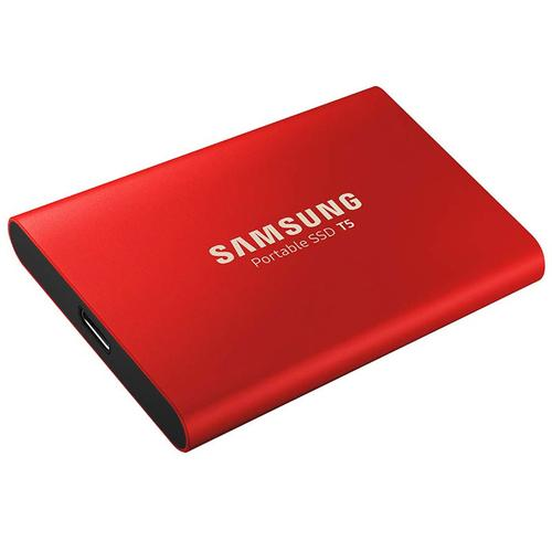 Samsung 1TB T5 USB 3.1 & USB-C External V-Nand Solid State Drive - Red - 540MB/s