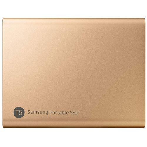 Samsung 1TB T5 USB 3.1 & USB-C External V-Nand Solid State Drive - Gold - 540MB/s
