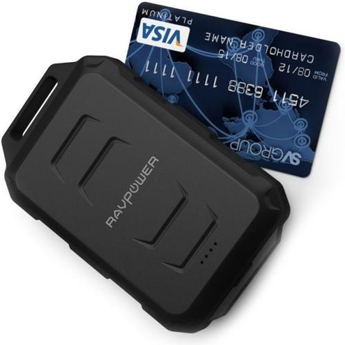 RAVPower 2.4A 10050mAh Waterproof Portable Power Bank - Black