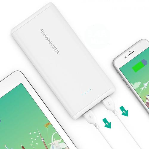 RAVPower 3.4A 20000mAh Portable Power Bank - White