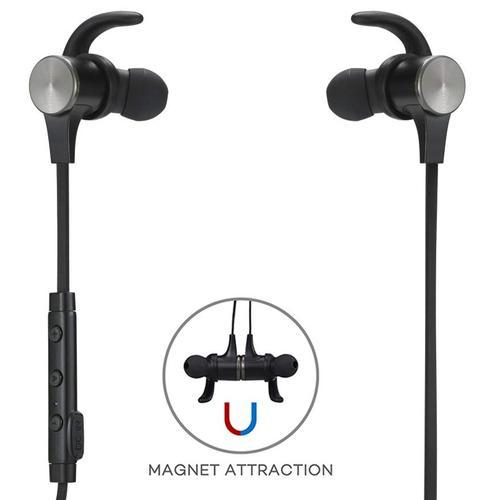 TaoTronics Wireless Earbuds Magnetic Snug Fit - Black
