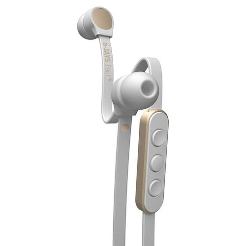 JAYS a-JAYS Four+ In-Line Control Earphones - White/Gold