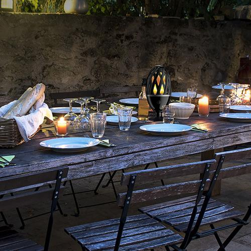 Luceco Decorative Indoor/Outdoor Table and Garden IP65 LED Flame Light - Black