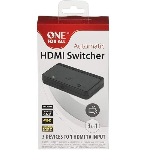 One For All Automatic HDMI Switcher with 3 Inputs