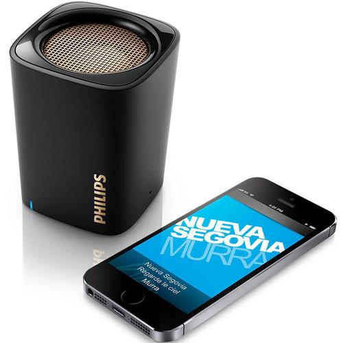 Philips Bluetooth Wireless Portable Mini Speaker with Built-In Mic - Black