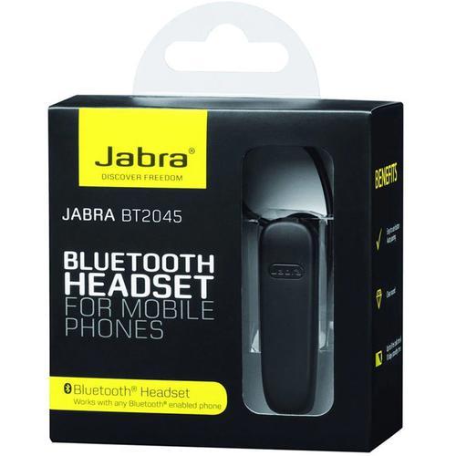 Jabra Wireless Bluetooth Headset (BT2045) - Black