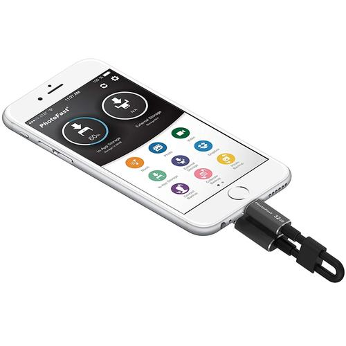 PhotoFast 32GB iOS OTG Memories Data Charging Cable - Black