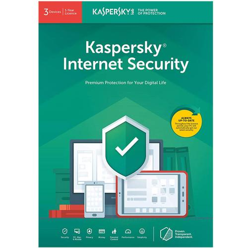 Kaspersky Internet Security 2019 (3 Devices, 1 Year)