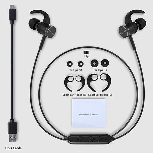 oneo Wireless Bluetooth Sports Headphones - Black