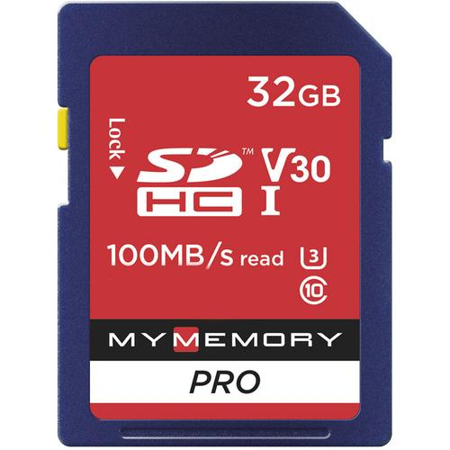 MyMemory 32GB V30 PRO High Speed SD Card (SDHC) UHS-1 U3 - 100MB/s