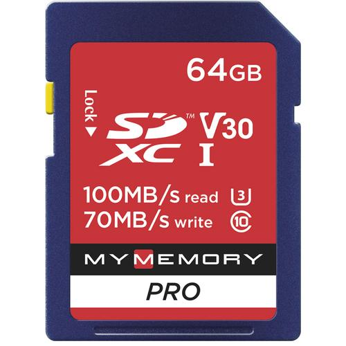 MyMemory 64GB V30 PRO High Speed SD Card (SDXC) UHS-1 U3 - 100MB/s