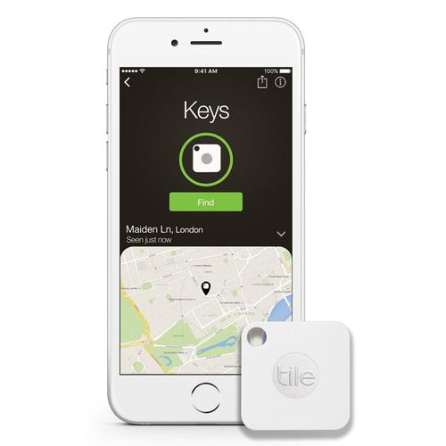 Tile Mate Bluetooth Tracker Key Finder with iOS/Android App - White