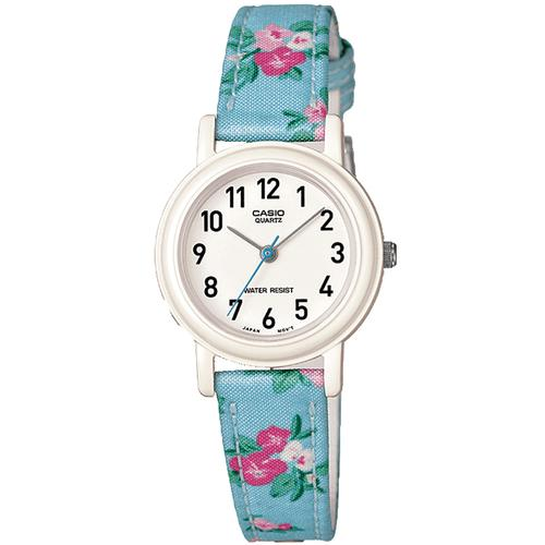 Casio Children's Quartz Watch with Multicolour Floral Strap