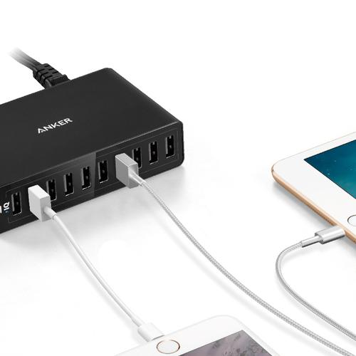 Anker PowerPort 10 60W 10 Port USB Wall Charger - Black