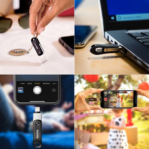 SanDisk 256GB iXpand GO iPhone/iPad USB 3.0 Flash Drive