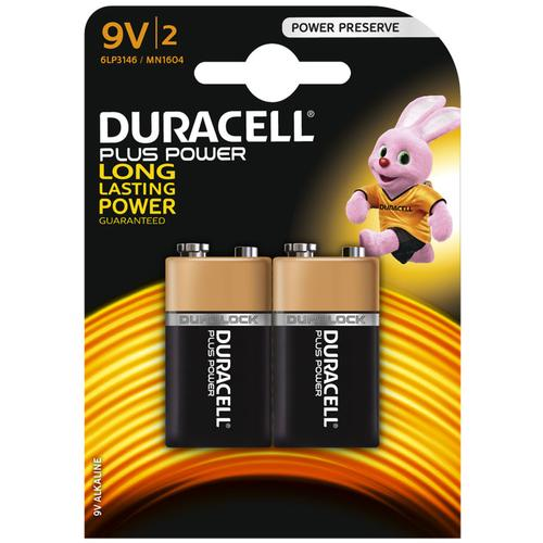 Duracell Plus Power 9V Battery - 2 Pack