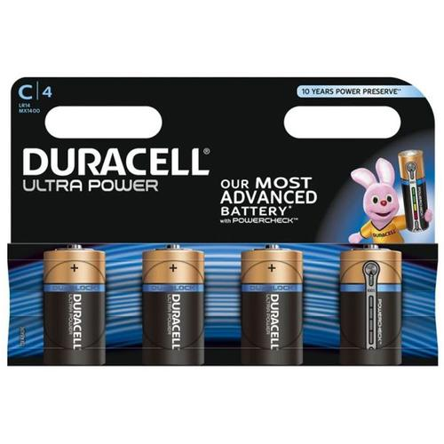 Duracell Ultra Power C Batteries - 4 Pack