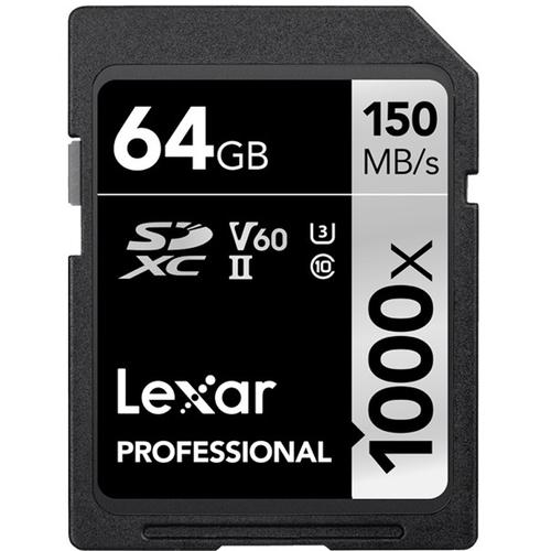 Lexar 64GB Professional SD Card (SDXC) UHS-II U3 V60 - 150MB/s
