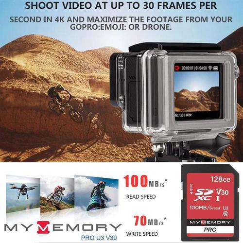 MyMemory 128GB V30 PRO SD Card (SDXC) UHS-I U3 - 100MB/s (2PACK)