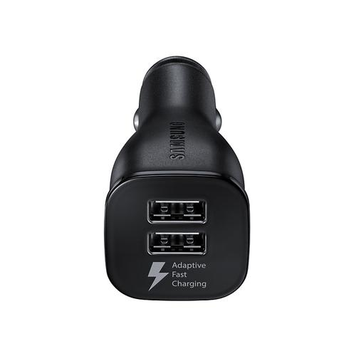 Samsung Dual USB & USB-C Fast Car Charger - Black