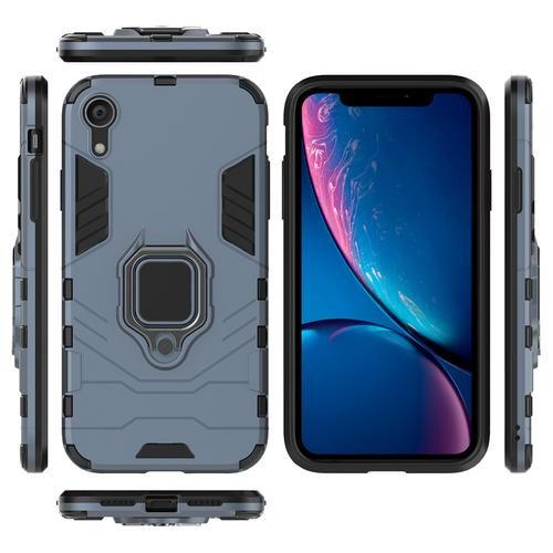 oneo ARMOUR Grip iPhone XR Protective Case - Navy Blue