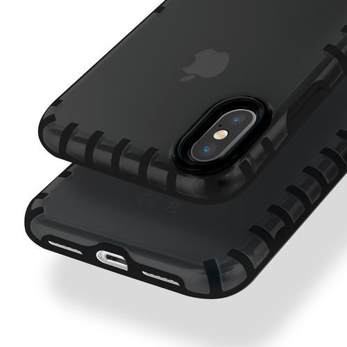 oneo VISION iPhone XS Max Transparent Case - Dark Grey