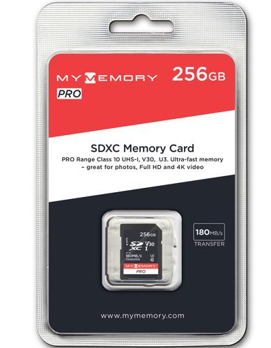 MyMemory 256GB V30 PRO SD Card (SDXC) UHS-I U3 - 180MB/s