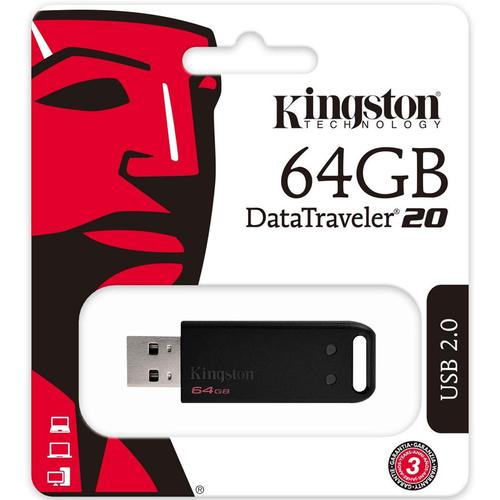 Kingston 64GB DataTraveler 20 USB 2.0 Flash Drive