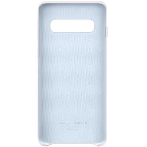 Samsung Galaxy S10 Silicone Cover Case - White