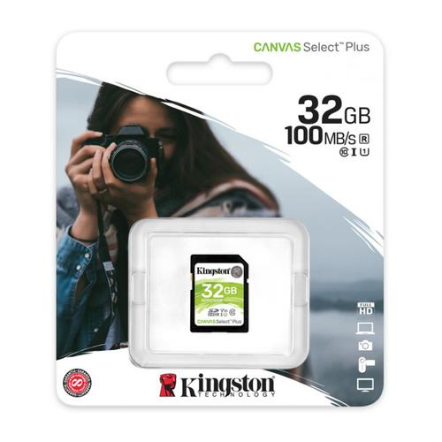 Kingston 32GB Canvas Select Plus SD Card (SDHC) UHS-I U3 - 100MB/s