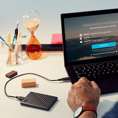 WD 5TB My Passport USB 3.2 External Hard Drive - Black