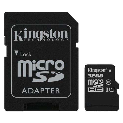 Kingston 32GB Canvas Select micro SD Karte (SDHC) + SD Adapter - 80MB/s - 8er Pack