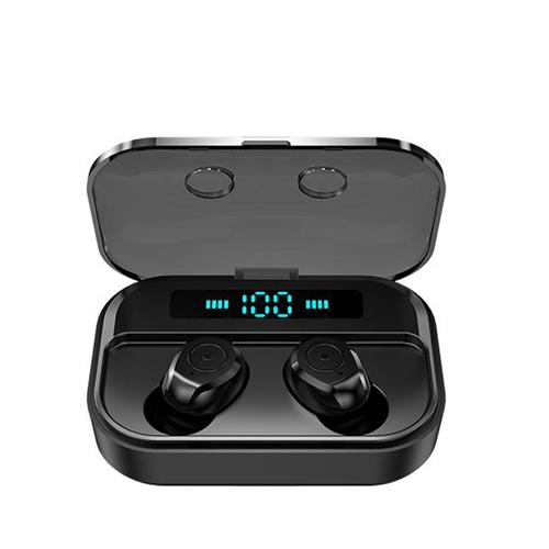 M7S TWS Wireless Bluetooth 5.0 Earbuds with Charging Case - Black