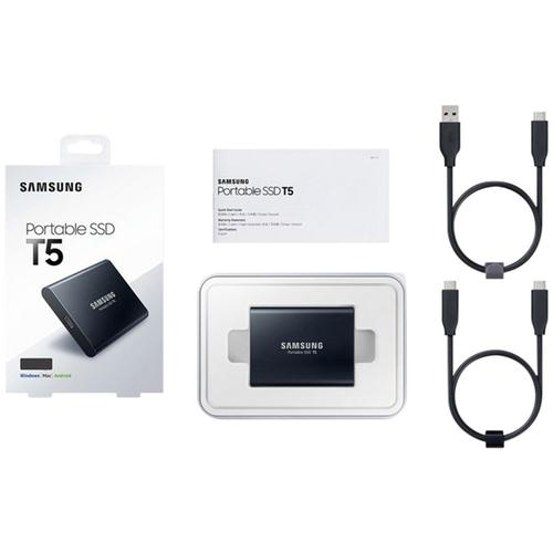 Samsung 2TB T5 USB 3.1 Gen 2 Portable Solid State Drive - Black