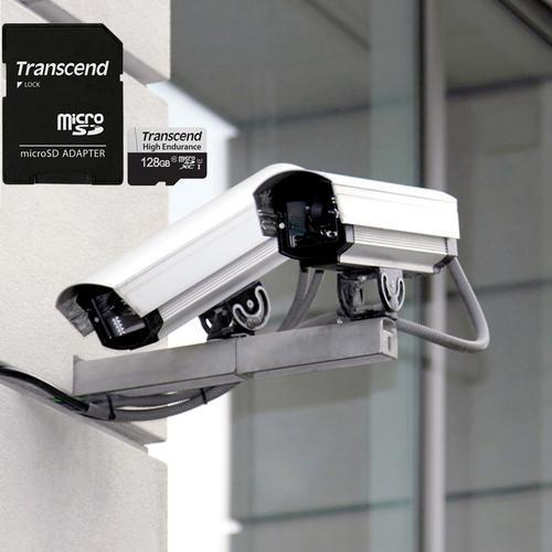 Transcend 128GB 350V V30 Endurance Micro SD Card (SDXC) UHS-I U1 + Adapter - 95MB/s