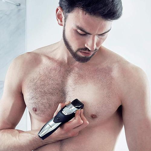 Panasonic Wet/Dry Rechargeable Beard & Body Trimmer (ERGB52S) - Silver