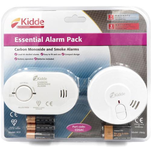 Kidde 5CO Carbon Monoxide Alarm 29HD Smoke Fire Detector Pack