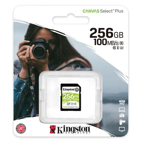 Kingston 256GB Canvas Select Plus V30 SD Card (SDXC) UHS-I U3 - 100Mb/s