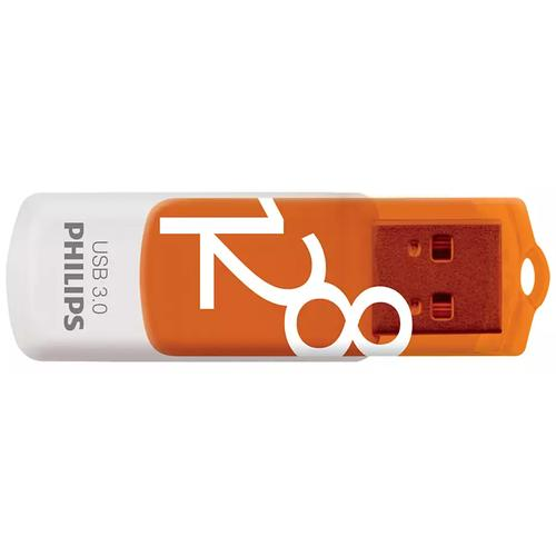 Philips 128GB Vivid USB 3.0 Flash Drive 100MB/s - Orange