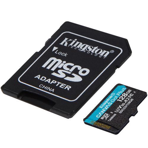 Kingston 128GB Canvas Go Plus Micro SD Card (SDXC) UHS-I U3 V30 A2 + Adapter - 170MB/s