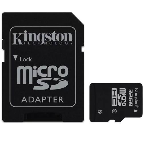 Kingston Micro SD (SDHC) Speicherkarte + SD Adapter - Class 4