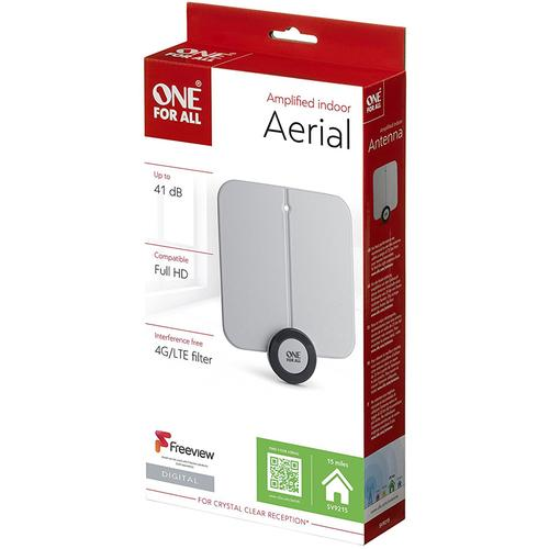 One For All Amplified Indoor Flat TV Aerial