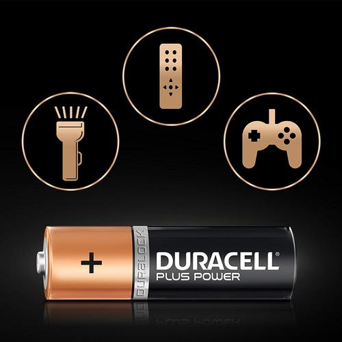 Duracell Plus Power Size AA Batteries Alkaline 1.5v - 4 Pack