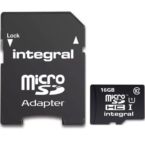 Integral 16GB UltimaPRO Micro SD Card (SDHC) + Adapter - 40MB/s