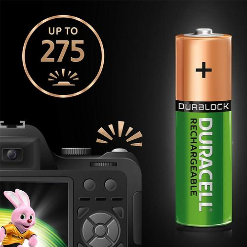 4d34fbf5d34 Duracell StayCharged 2400mAh AA Rechargeable Batteries - 4 Pack ...