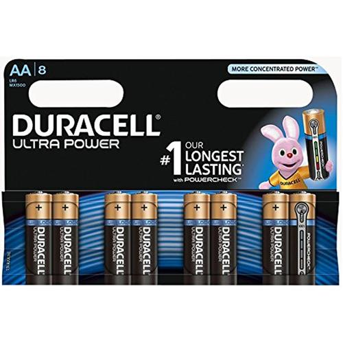 Duracell Ultra Power AA Batteries - 8 Pack