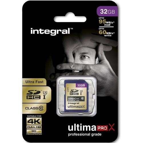 Integral 32GB UltimaPRO X SD Card (SDHC) UHS-I U3 - 95MB/s