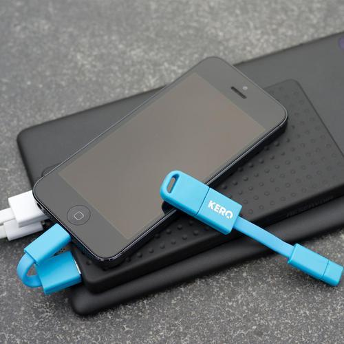 Kero Nomad Lightning  to USB Key Ring Cable - Blue